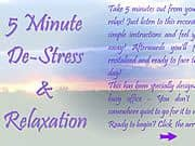 5 Minute De Stress Relaxation