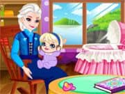 Abuela Elsa Frozen Cuida a la Bebe