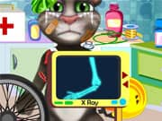 Juego Accidente en Bici del Gato Talking Tom