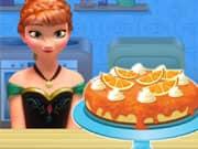 Anna Frozen Cocinando Cake de Queso