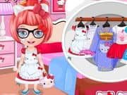 Juego Baby Barbie Hello Kitty Costumes