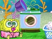 Juego Baby SpongeBob Washing Clothes
