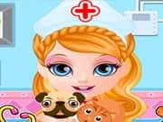 Bebe Barbie Hospital de Mascotas