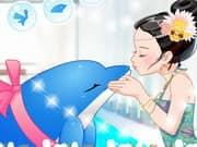 Besos del Delfin en el Acuario