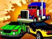 Carrera de Autos Transformers