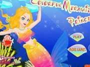 Colorful Mermaid Princess