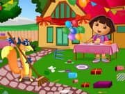 Juego Dora Birthday Bash Cleaning