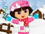 Juego Dora Winter Fashion Dressup