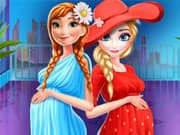 Juego Elsa and Anna Pregnant Shopping