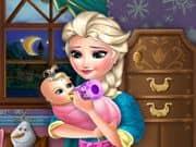 Elsa Frozen Alimenta al bebe