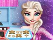 Elsa Frozen Cocinando Pan de Jengibre