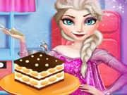 Elsa Frozen Cocinando un Tiramisu