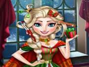 Elsa Frozen Corte de Cabello para Navidad