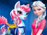 Elsa Frozen Cuidado del Pony
