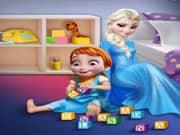 Elsa Frozen Juega con Anna Frozen Bebe