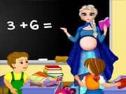 Elsa Frozen Maestra Embarazada