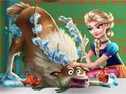 Elsa Frozen Rescate de Sven