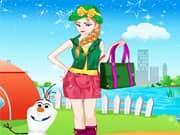 Elsa Frozen Salir de Acampada