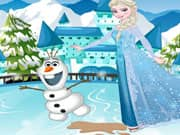 Elsa Frozen Tropiezo en la Pista de Hielo