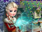Elsa Frozen X-mas House