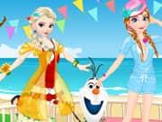 Elsa vs Anna Bikini Contest