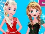 Elsa With Anna Dressup