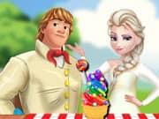 Elza Frozen Rainbow Ice Cream Cooking