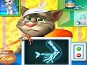 Gato Talking Tom Cirugia en el Brazo