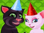 Gato Talking Tom y Angela Cake de Bodas