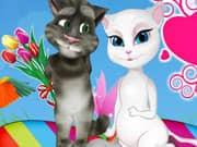 Gato Talking Tom y Angela Dia de los Enamorados