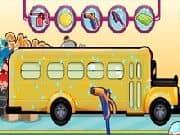 Limpiando el Bus Escolar