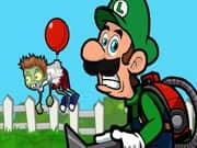 Luigi Dispara a los Zombis