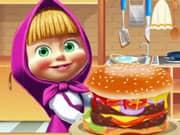 Masha and Bear Burger Cooking