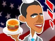 Obama puesto de Hamburguesas