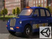 Parqueo del Taxi en Londres 3D