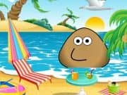 Juego Pou At The Beach