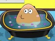Bañando a Pou