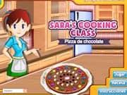 Sara Cocina una Pizza de Chocolate