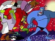 Vestir al Genio Azul de Aladdin